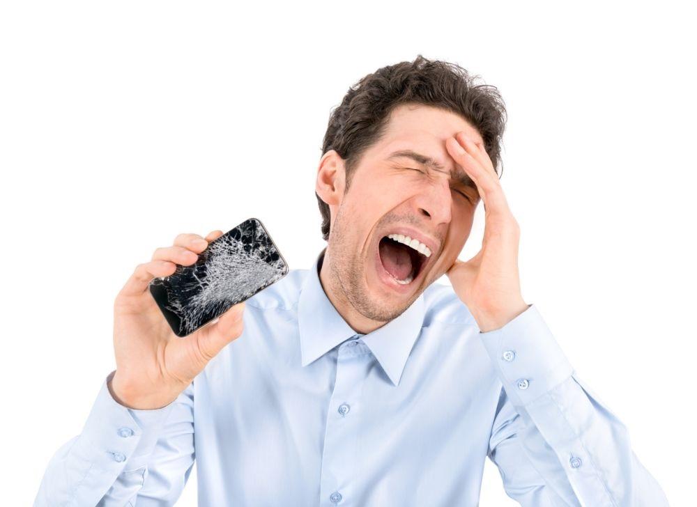 ガラス割れiPhone