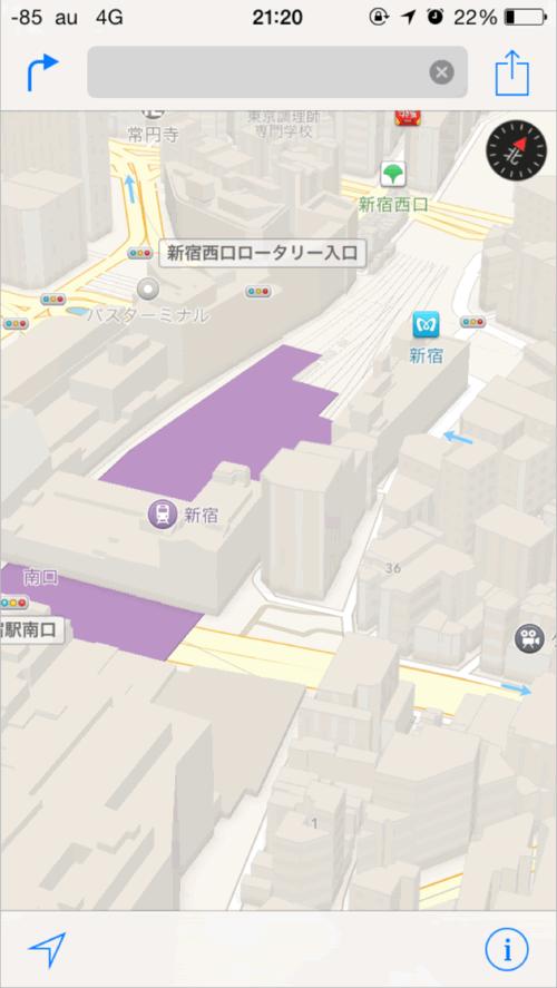 アップル 地図 3D